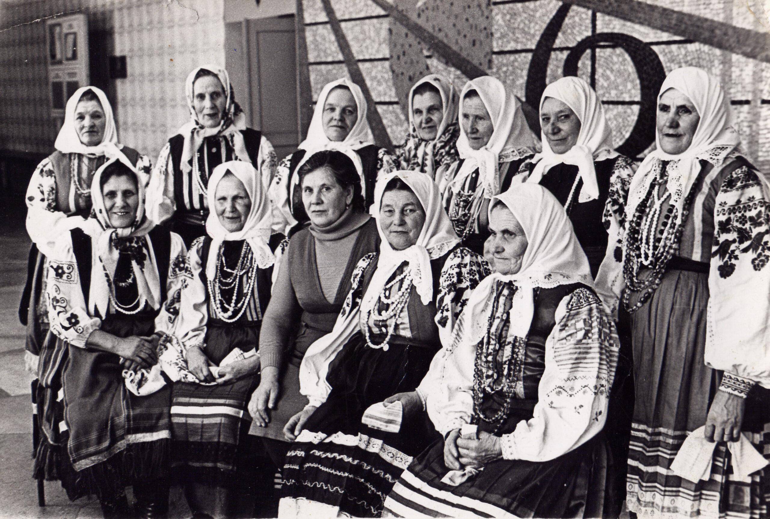 Кустовской фольклорный коллектив 1985 г